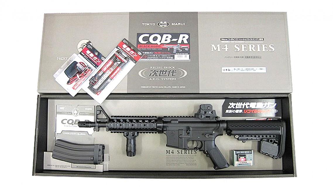 TOKYO MARUI M4 CQB-R SOPMOD EBB Rifle (Next Gen, Black)