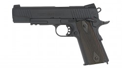 CYBERGUN COLT 1911 RAIL GUN GBB PISTOL (CO2, BLACK)