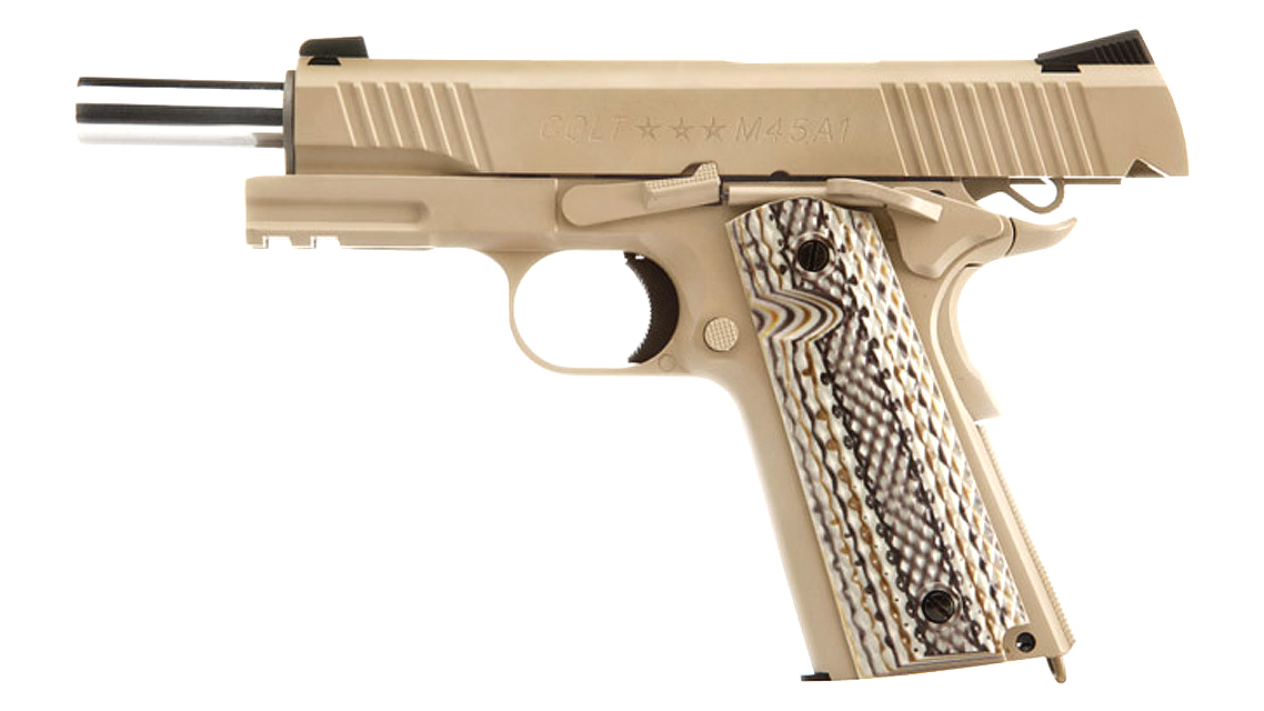 CYBERGUN COLT M45A1 1911 RAIL GUN GBB PISTOL (CO2, TAN)