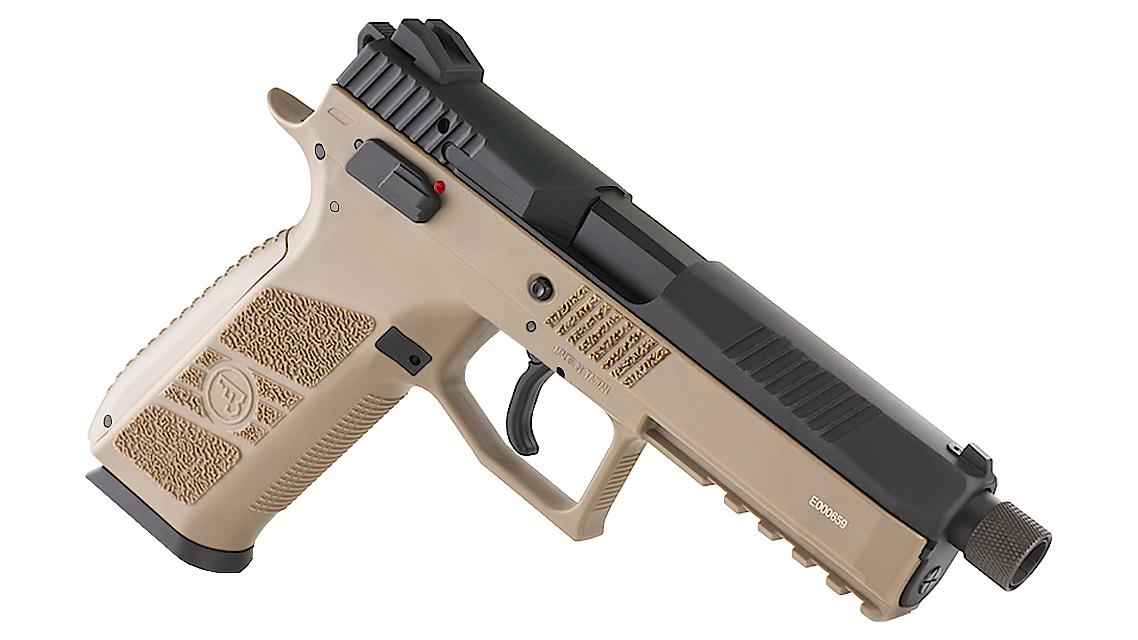 KJ WORKS CZ 75 P-09 Tactical GBB Pistol (CO2, TAN)