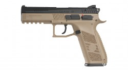 KJ WORKS CZ 75 P-09 Duty GBB Pistol (ASG, GAS, TAN)