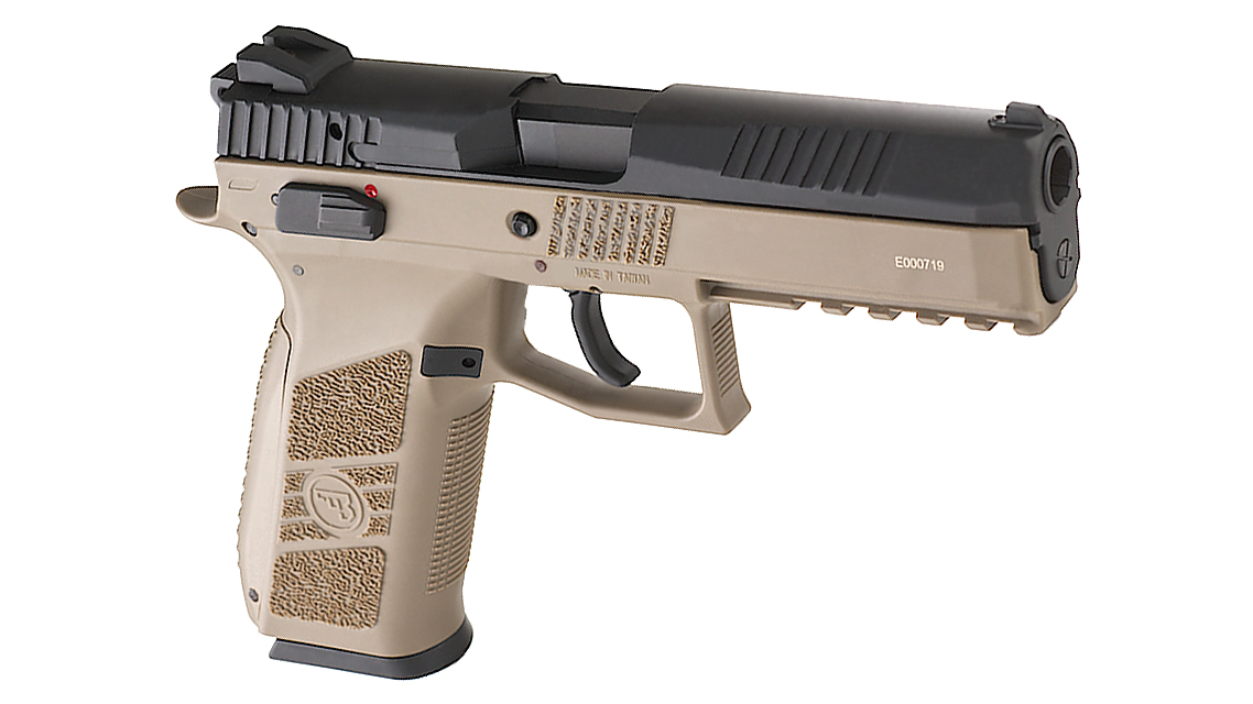 KJ WORKS CZ 75 P-09 Duty GBB Pistol (ASG, CO2, TAN)