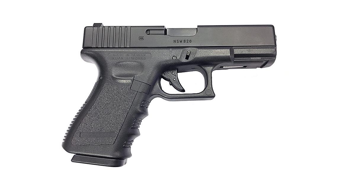 KJ WORKS G23 GBB Pistol Airsoft (Metal Slide Black)