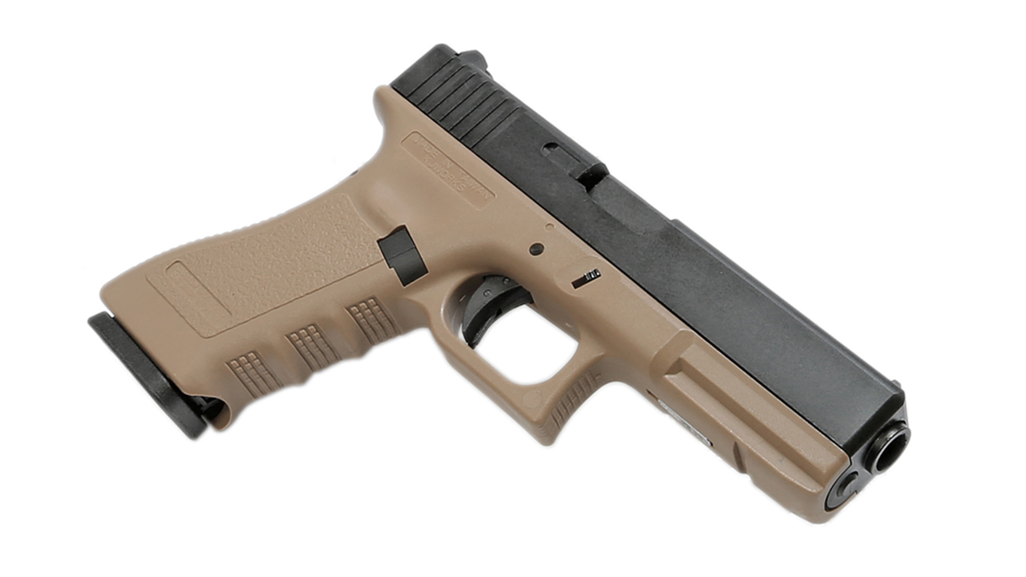 KJ WORKS KP-17 GBB Pistol Airsoft (G17  Tan Gas)