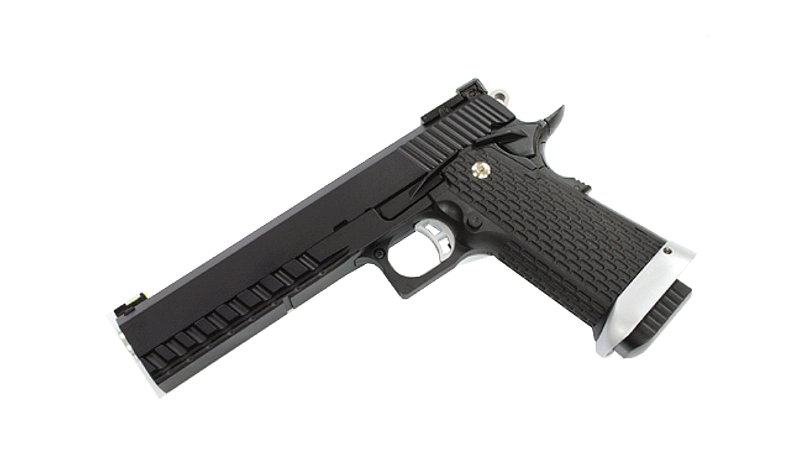 KJ WORKS KP-06 Hi-CAPA 5.1 GBB Pistol (Metal, Black, GAS)