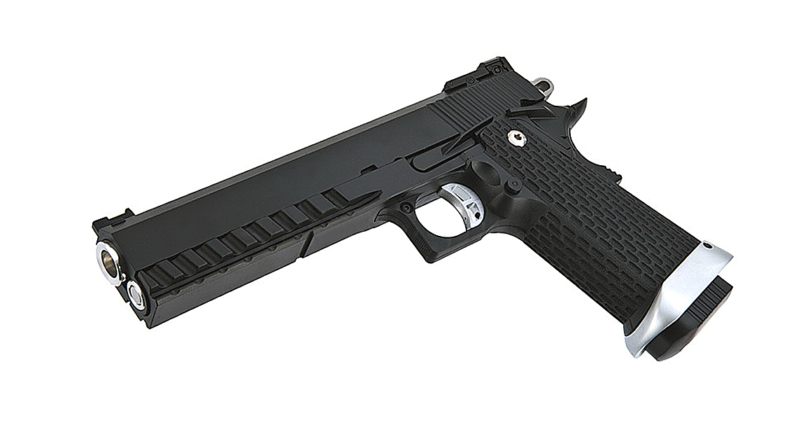 KJ WORKS KP-06 Hi-CAPA 5.1 GBB Pistol (Metal, Black, CO2)
