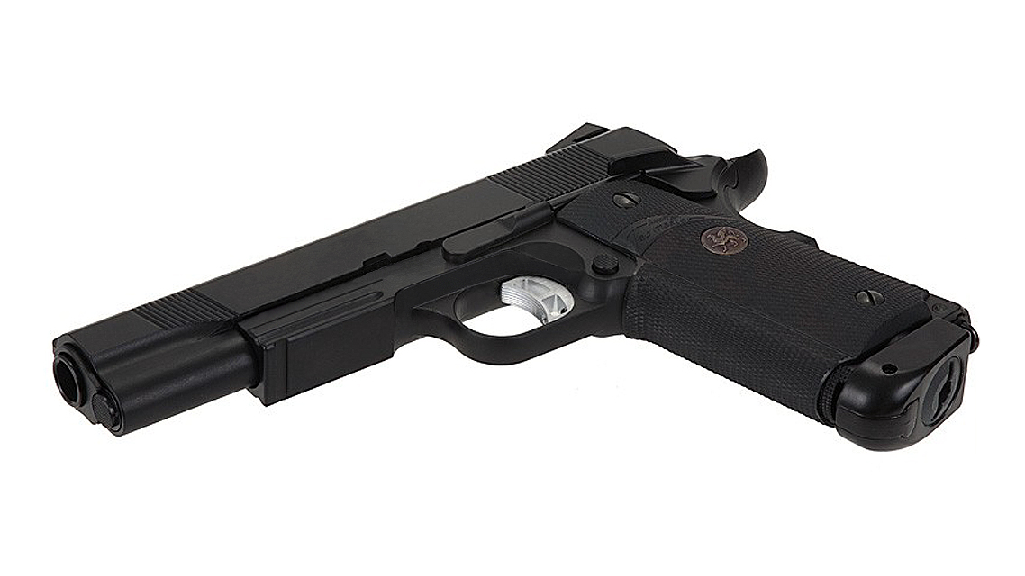 KJ WORKS KP-07 M.E.U. GBB Pistol (M1911, Metal, Black, CO2)