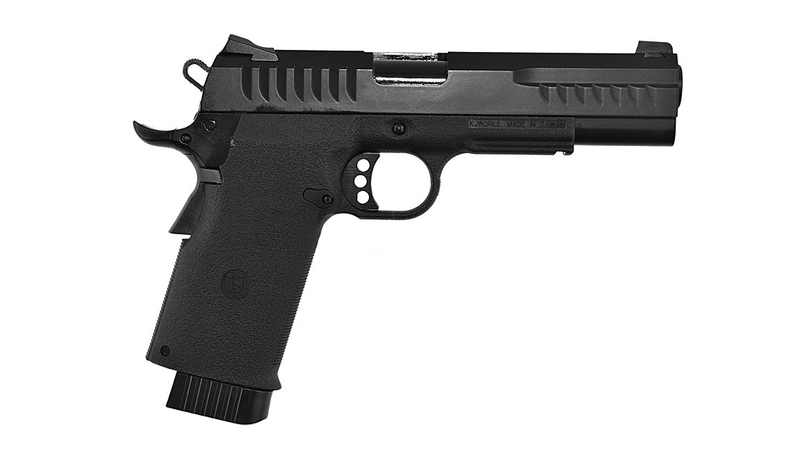 KJ WORKS KP-08 HI-CAPA GBB Pistol (Metal, Black, CO2)