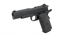 KJ WORKS KP-08 HI-CAPA GBB Pistol (Metal, Black, GAS & CO2)
