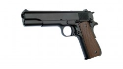 KJ WORKS M1911A1 GBB Pistol (Metal, Black, GAS)