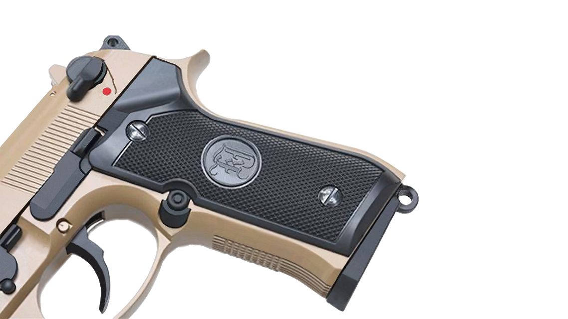 KJ WORKS M9A1 TBC GBB Pistol  (Full Metal, TAN, Gas)