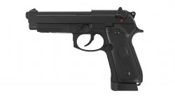 KJ WORKS M9A1 GBB Pistol  (Full Metal, Black, CO2)