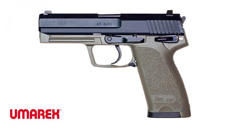 UMAREX H&K USP .45 GBB Pistol (Metal Slide, Olive Drab)