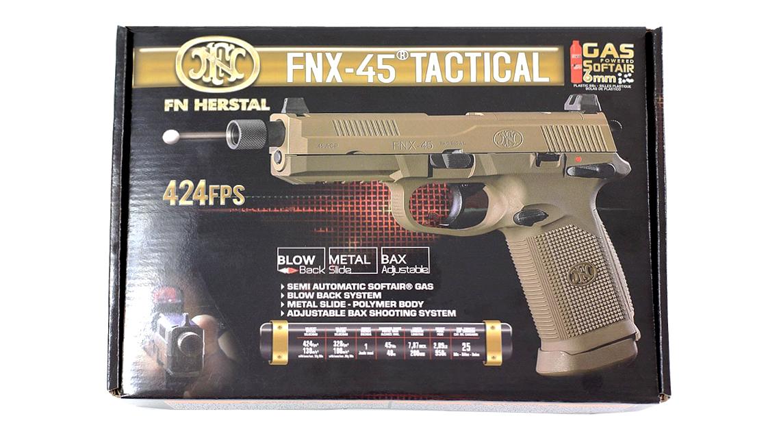 CYBERGUN FNX 45 TACTICAL GBB PISTOL (DARK EARTH)