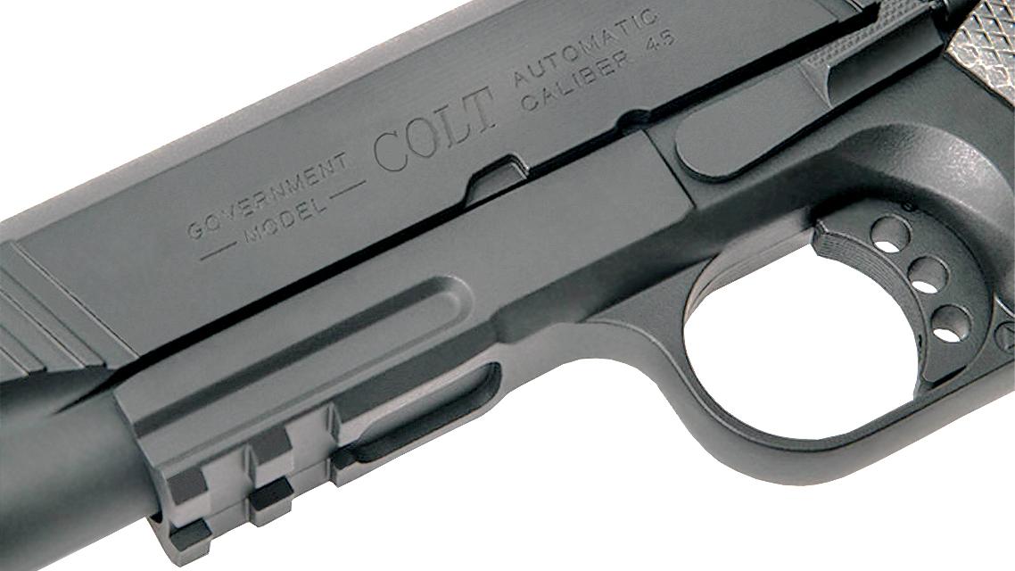 CYBERGUN COLT 1911 RAIL GUN GBB PISTOL (CO2, BLACK)