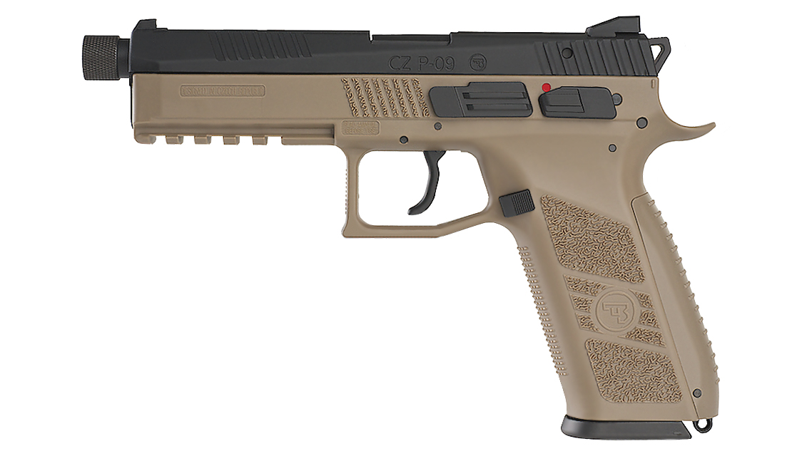 KJ WORKS CZ 75 P-09 Tactical GBB Pistol (CO2, TAN)
