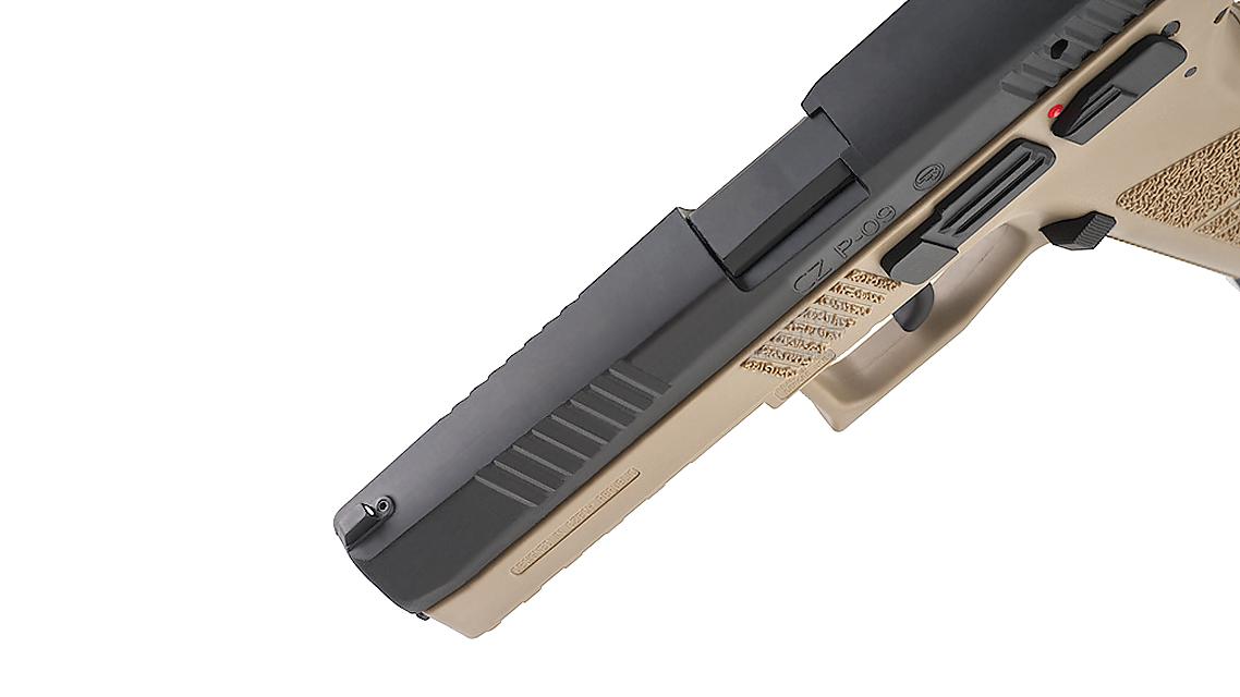 KJ WORKS CZ 75 P-09 Duty GBB Pistol (ASG, GAS, TAN)