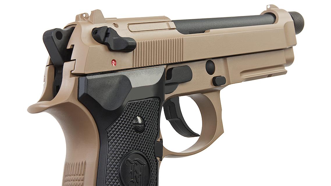 KJ WORKS M9A1 TBC GBB Pistol  (Full Metal, TAN, Gas)