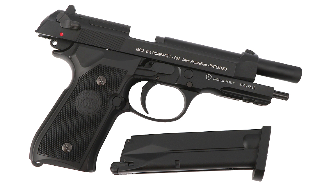 KWC M92 FULL AUTO GBB PISTOL (M9A1, CO2, 6mm)