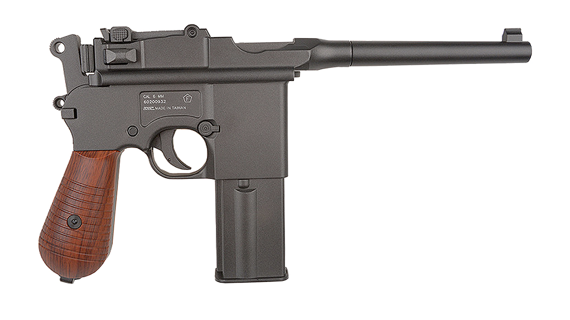 KWC MAUSER M712 Broomhandle GBB Pistol (CO2, 6mm)